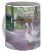 Swans At Smithville Park Coffee Mug