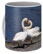 Swans Courting Coffee Mug