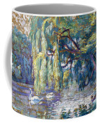 Swans Family . Forest Of Boulogne  Coffee Mug