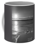 Swans Sunrise Bw Coffee Mug