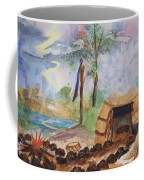 Sweat Lodge Coffee Mug by Ellen Levinson