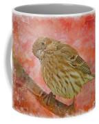 Sweet Female House Finch 3 - Digital Paint Coffee Mug