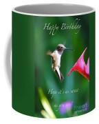 Sweet Hummingbird Birthday Card Coffee Mug