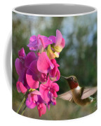 Sweet Pea Hummingbird Coffee Mug