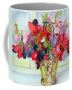 Sweet Peas In A Vase Coffee Mug
