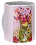 Sweet Peas With Cherries And Strawberries Coffee Mug by Joan Thewsey