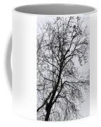 Sweetgum Silhouette On A Rainy Day Coffee Mug