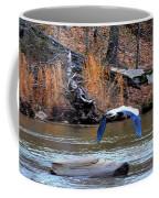 Sweetwater Heron In Flight Coffee Mug