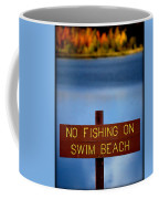 Swim Beach Sign Coffee Mug