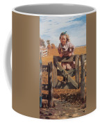Swinging On A Gate Coffee Mug