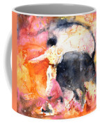 Swinging Yellow And Pink Coffee Mug