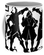 Sword Duel Silhouette  Coffee Mug