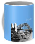 Sydney Skyline 2 Harbor Bridge - Light Blue Coffee Mug