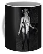 Sylver Short Halloween Tucson Arizona 1990 Black And White Coffee Mug