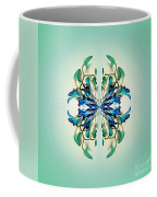 Symmetrical Orchid Art - Blues And Greens Coffee Mug