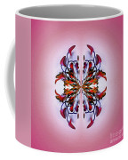 Symmetrical Orchid Art - Reds Coffee Mug
