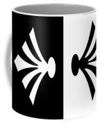Symmetry In Black And White Digital Painting Coffee Mug
