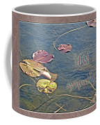 Sympathy Greeting Card - Autumn Lily Pads Coffee Mug