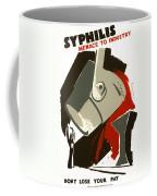 Syphilis Menace W P A Poster  1938 Coffee Mug