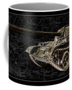 T-54 Soviet Tank Bk-bg Coffee Mug