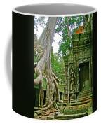 Ta Prohm And Tree Invasion In Angkor Wat Archeologial Park Near Siem Reap-cambodia Coffee Mug