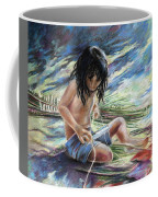 Tahitian Boy With Knife Coffee Mug