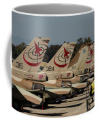 Tail Fins Of Israeli Air Force F-16`s Coffee Mug