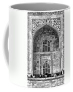Taj Mahal Close Up In Black And White Coffee Mug