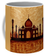Taj Mahal Lovers Dream Original Coffee Painting Coffee Mug