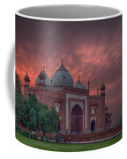 Taj Mahal Mosque At Sunset Coffee Mug
