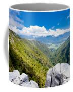 Takaka Hill Limestone Outcrops Takaka Valley In Nz Coffee Mug