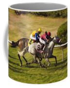 Taking Over - Del Mar Horse Race Coffee Mug