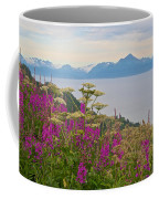 Tall Fireweed And Cow Parsnip Over Cook Inlet Near Homer- Ak Coffee Mug