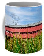 Tall Grass And Sachs Covered Bridge Coffee Mug