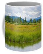 Tall Grasses In Swan Lake In Grand Teton National Park-wyoming Coffee Mug