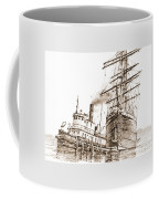 Tall Ship Assist Sepia Coffee Mug