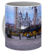 Tall Ship At Albert Dock Coffee Mug