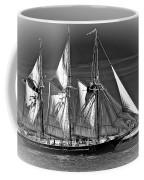 Tall Ship Bw Coffee Mug