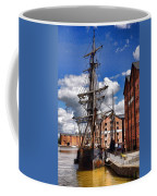 Tall Ship In Gloucester Docks Coffee Mug