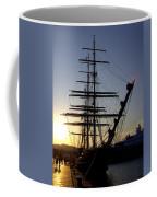 Tall Ship In Ibiza Town Coffee Mug