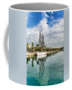 Tall Ships And Palm Trees - Impressions Of Barcelona Coffee Mug