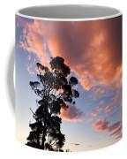 Tall Tree Against A Dramatic Sunset Clouds Sky Coffee Mug