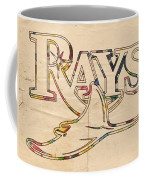 Tampa Bay Rays Logo Art Coffee Mug