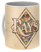Tampa Bay Rays Vintage Art Coffee Mug