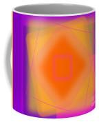 Tangerine And Orange Squares Coffee Mug