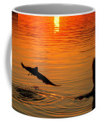 Tangerine Moonlight Coffee Mug by Karen Wiles