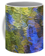 Tangerine Twist Mosaic Abstract Art Coffee Mug by Christina Rollo