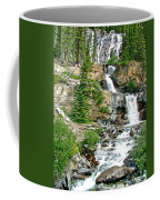 Tangle Falls Along Icefield Parkway In Alberta Coffee Mug
