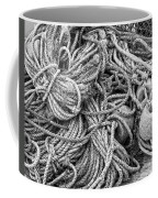 Tangled Rope And Lobster Fishing Gear On Dock Maine Coffee Mug