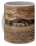 Taos Mountain In Platinum  Coffee Mug